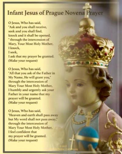 Novena to the Infant Jesus of Prague - Click To Pray
