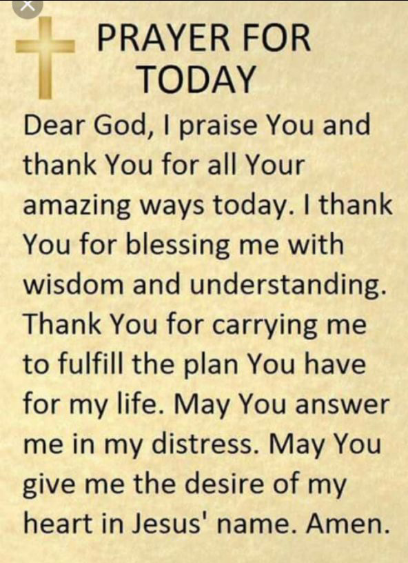 Tuesday with you Father - Click To Pray